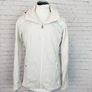 Athleta|Cream Full Zip Athletic Jacket